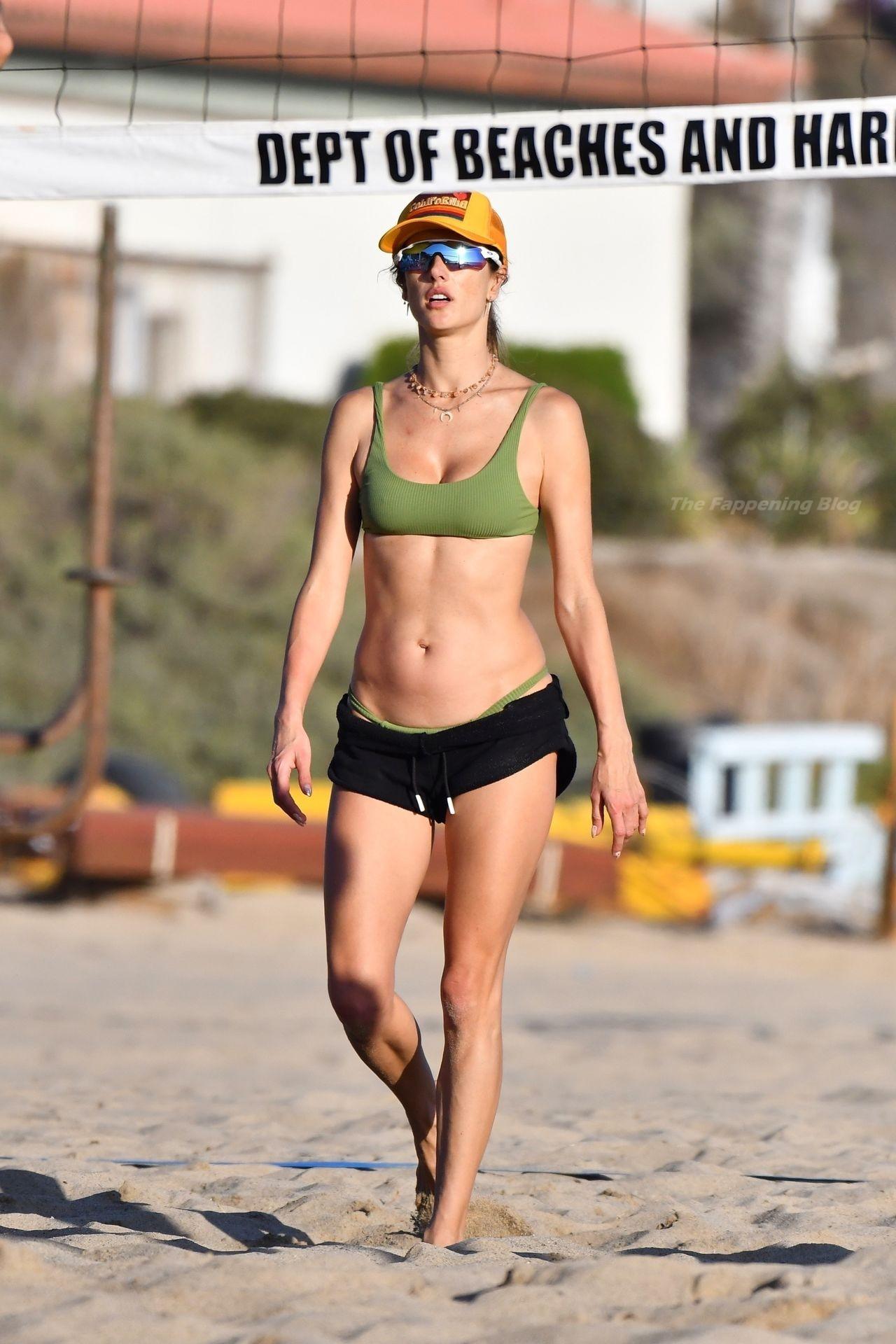 Alessandra Ambrosio Sexy on Beach 3