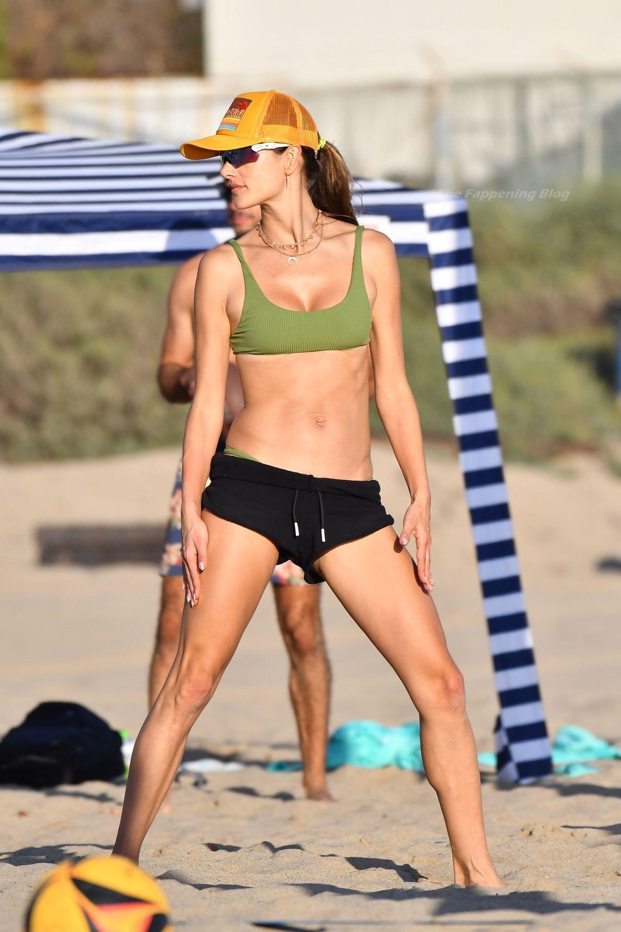 Alessandra Ambrosio Sexy on Beach 21