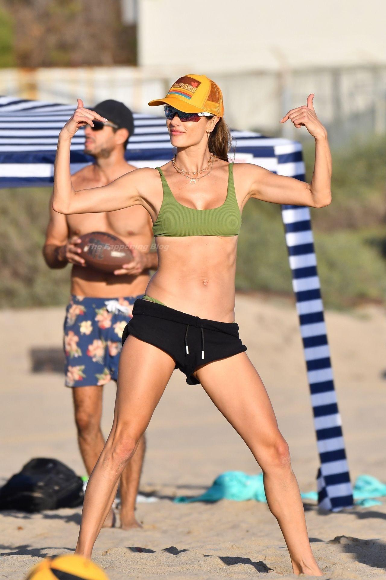 Alessandra Ambrosio Sexy on Beach 22