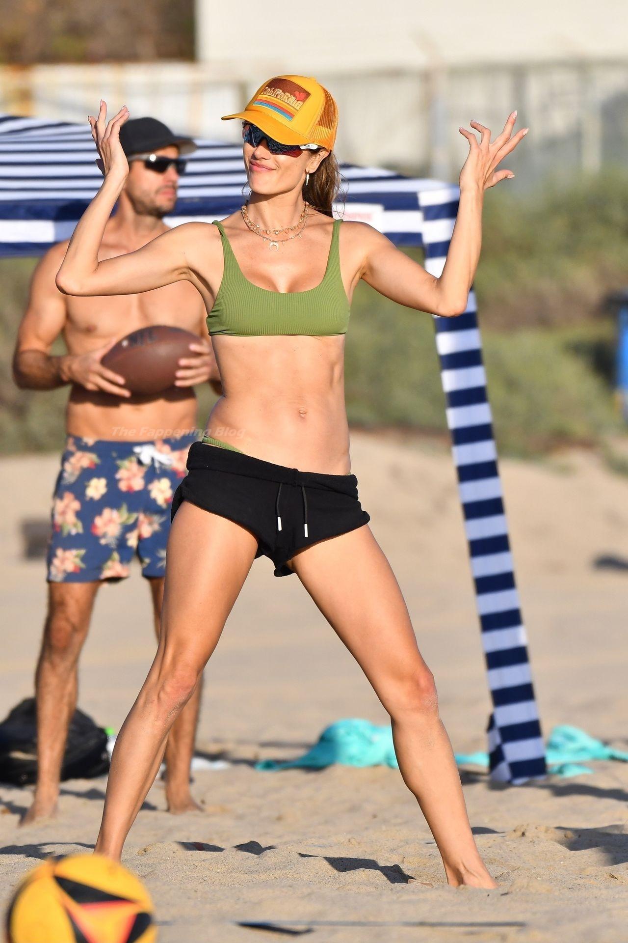 Alessandra Ambrosio Sexy on Beach 23