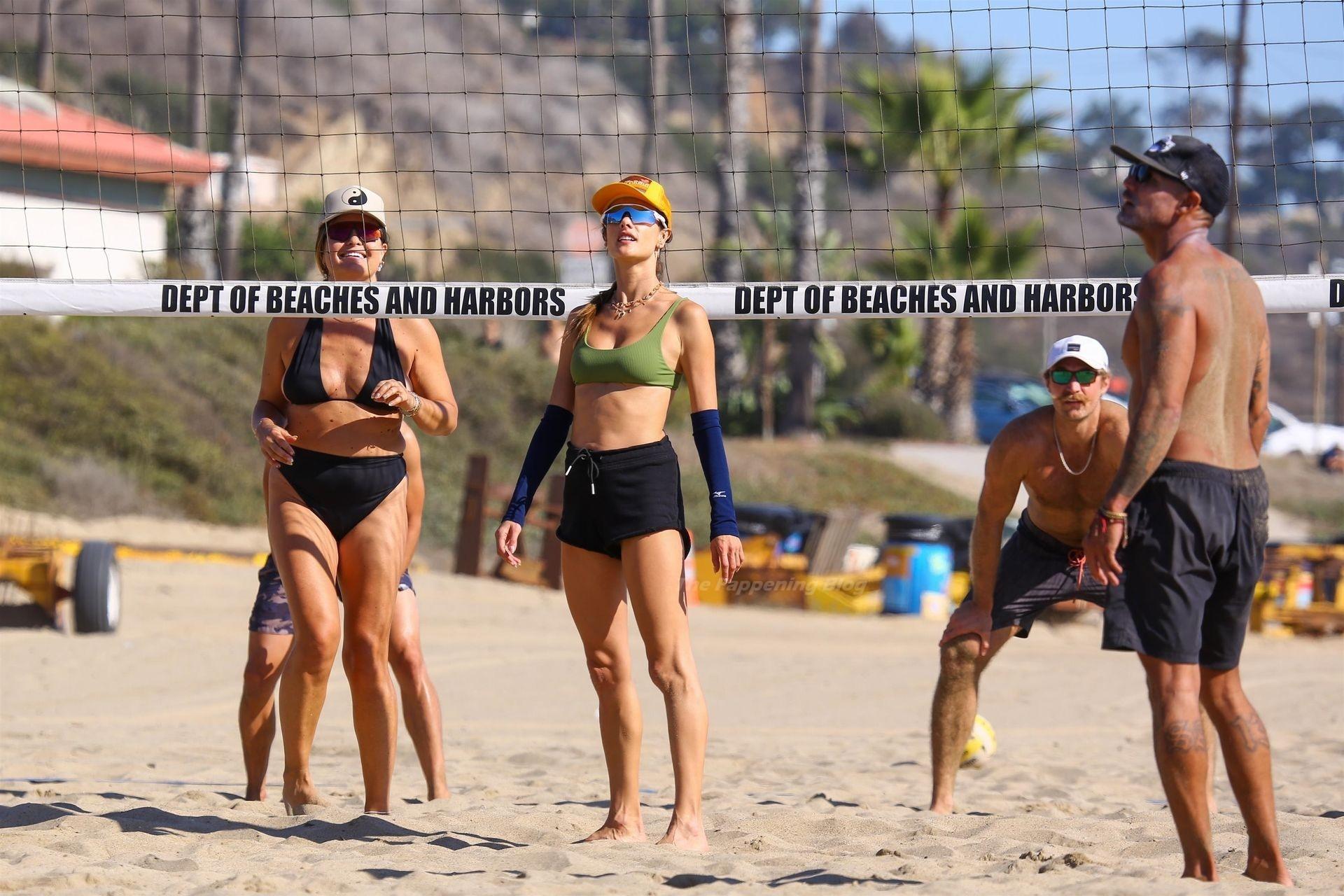 Alessandra Ambrosio Sexy on Beach 52