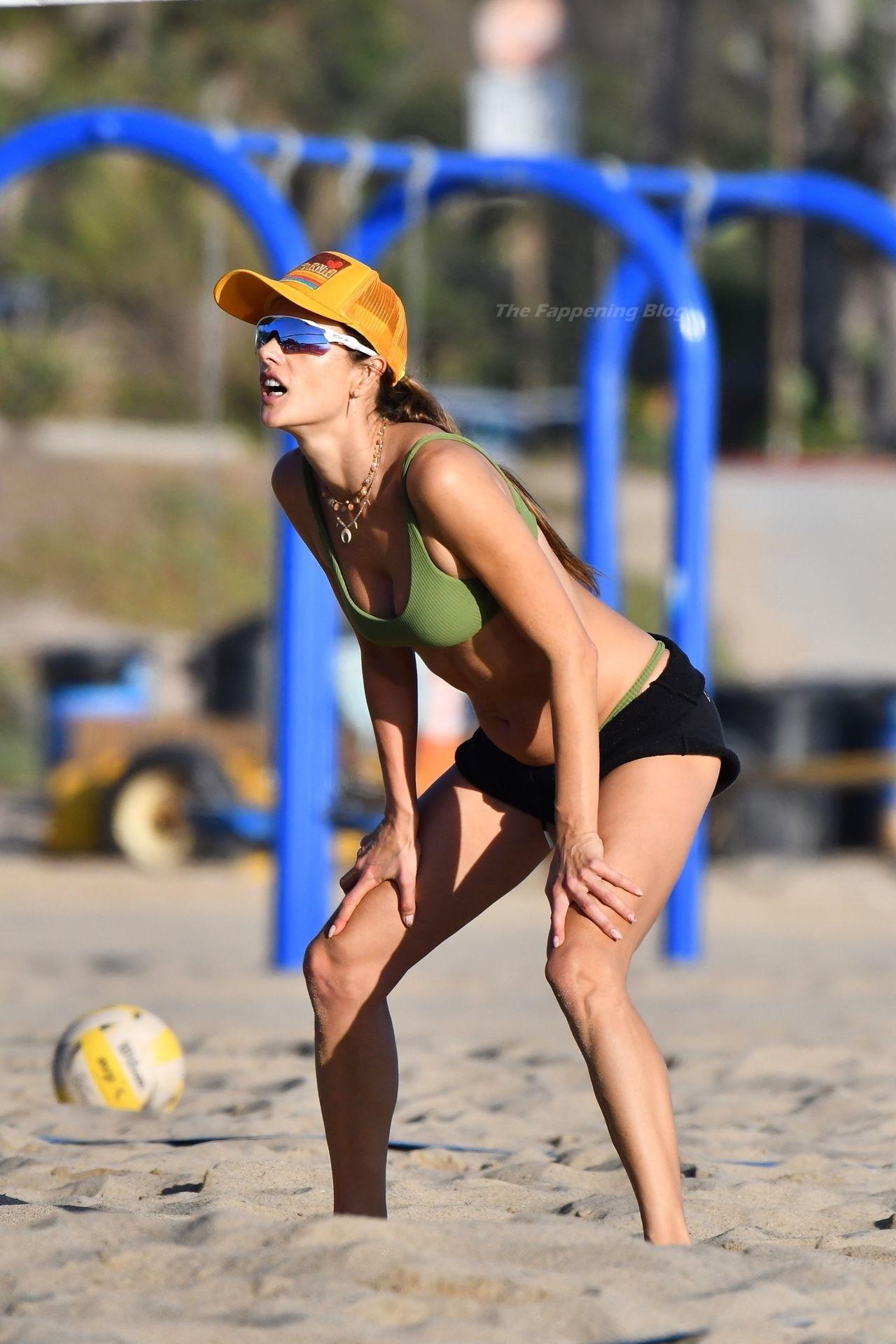 Alessandra Ambrosio Sexy on Beach 7