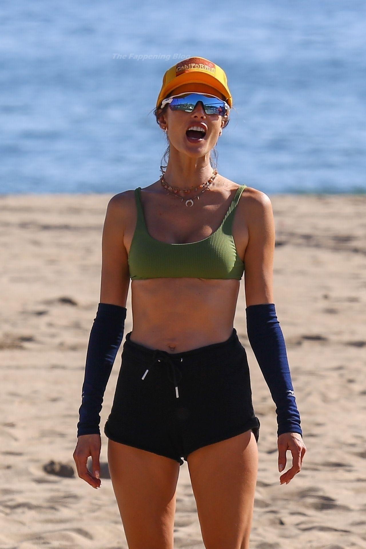 Alessandra Ambrosio Sexy on Beach 62