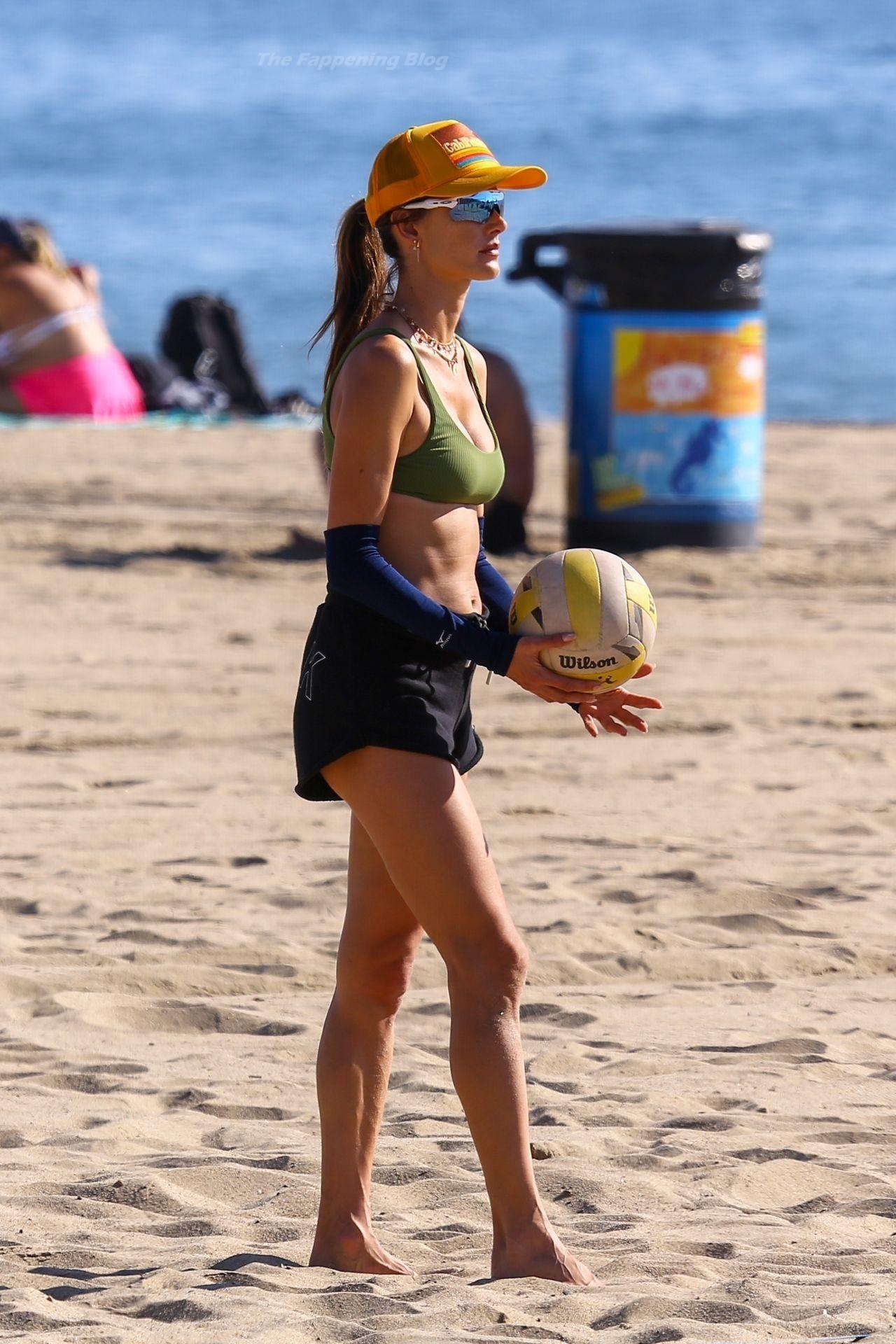Alessandra Ambrosio Sexy on Beach 63