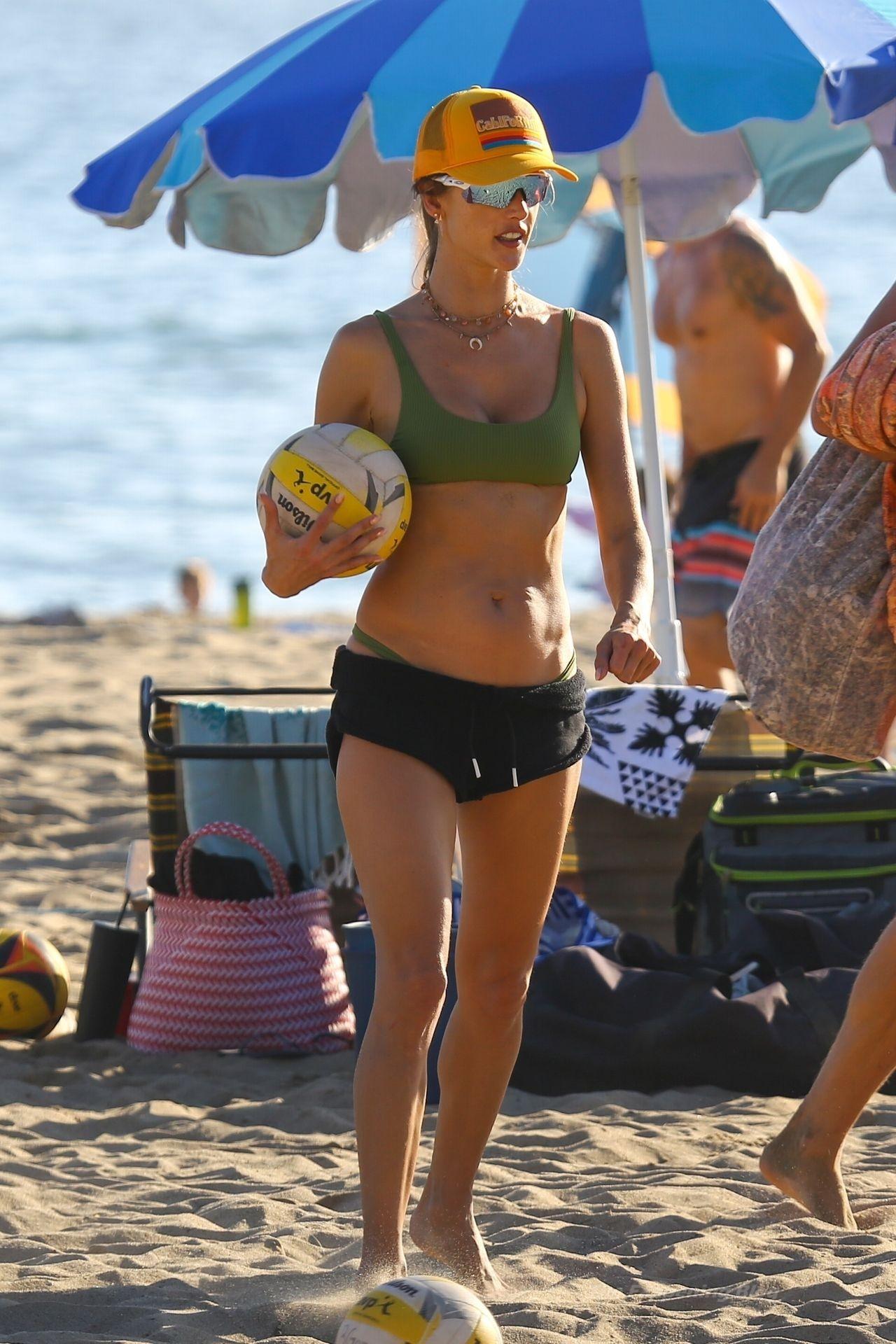 Alessandra Ambrosio Sexy on Beach 68