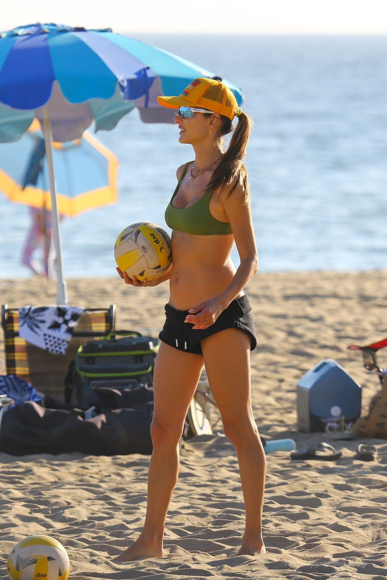 Alessandra Ambrosio Sexy on Beach 69