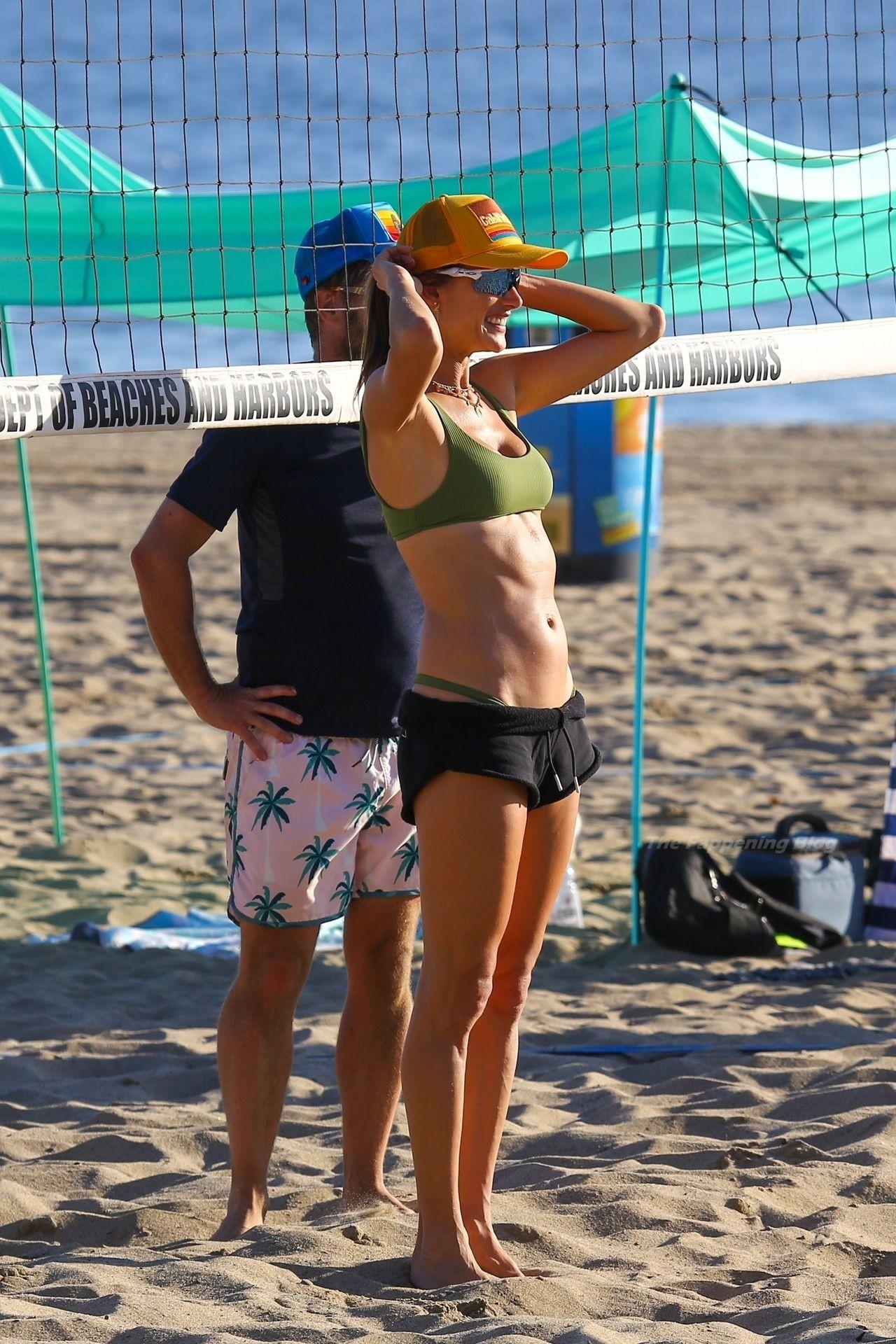 Alessandra Ambrosio Sexy on Beach 70