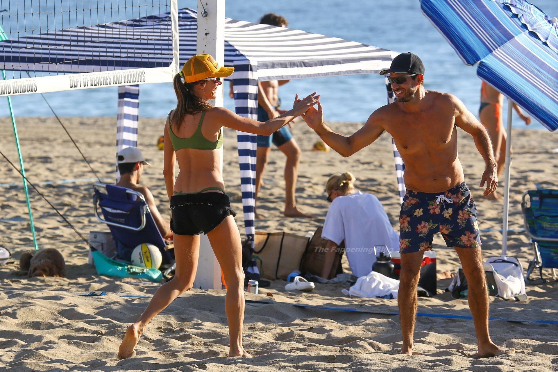Alessandra Ambrosio Sexy on Beach 75