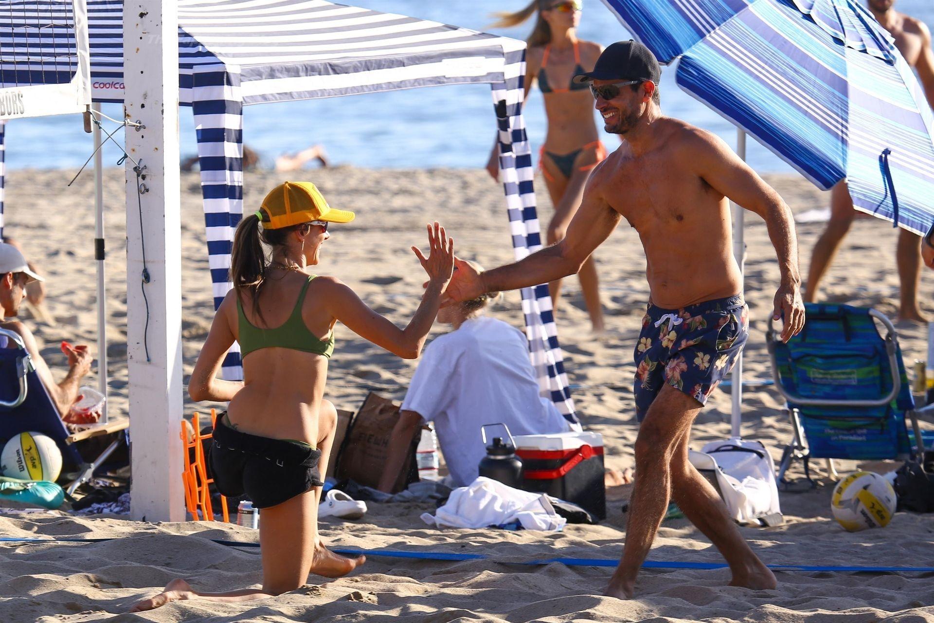 Alessandra Ambrosio Sexy on Beach 80