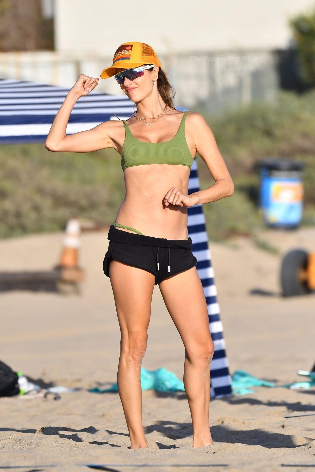 Alessandra Ambrosio Sexy on Beach 9