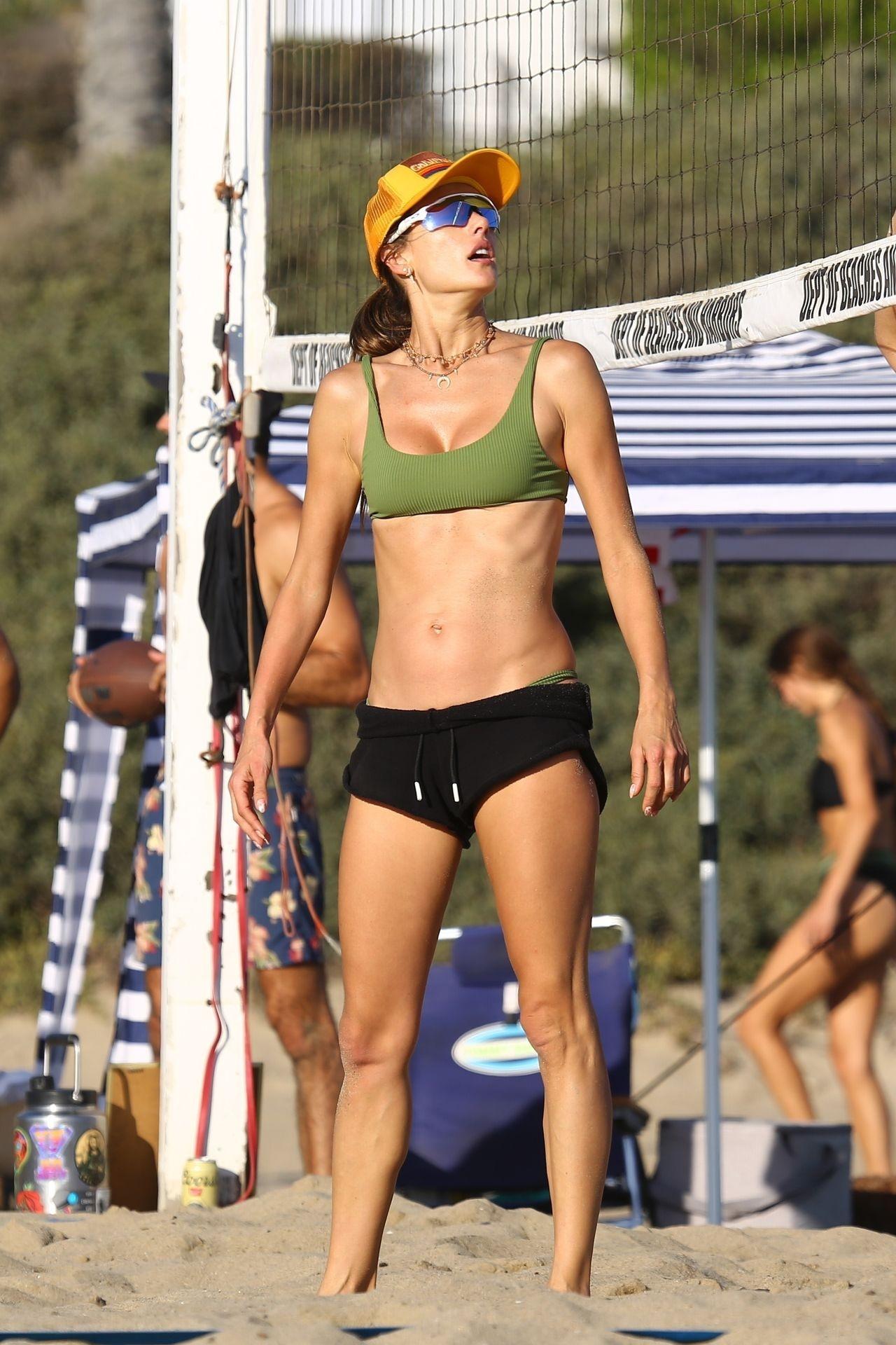 Alessandra Ambrosio Sexy on Beach 87