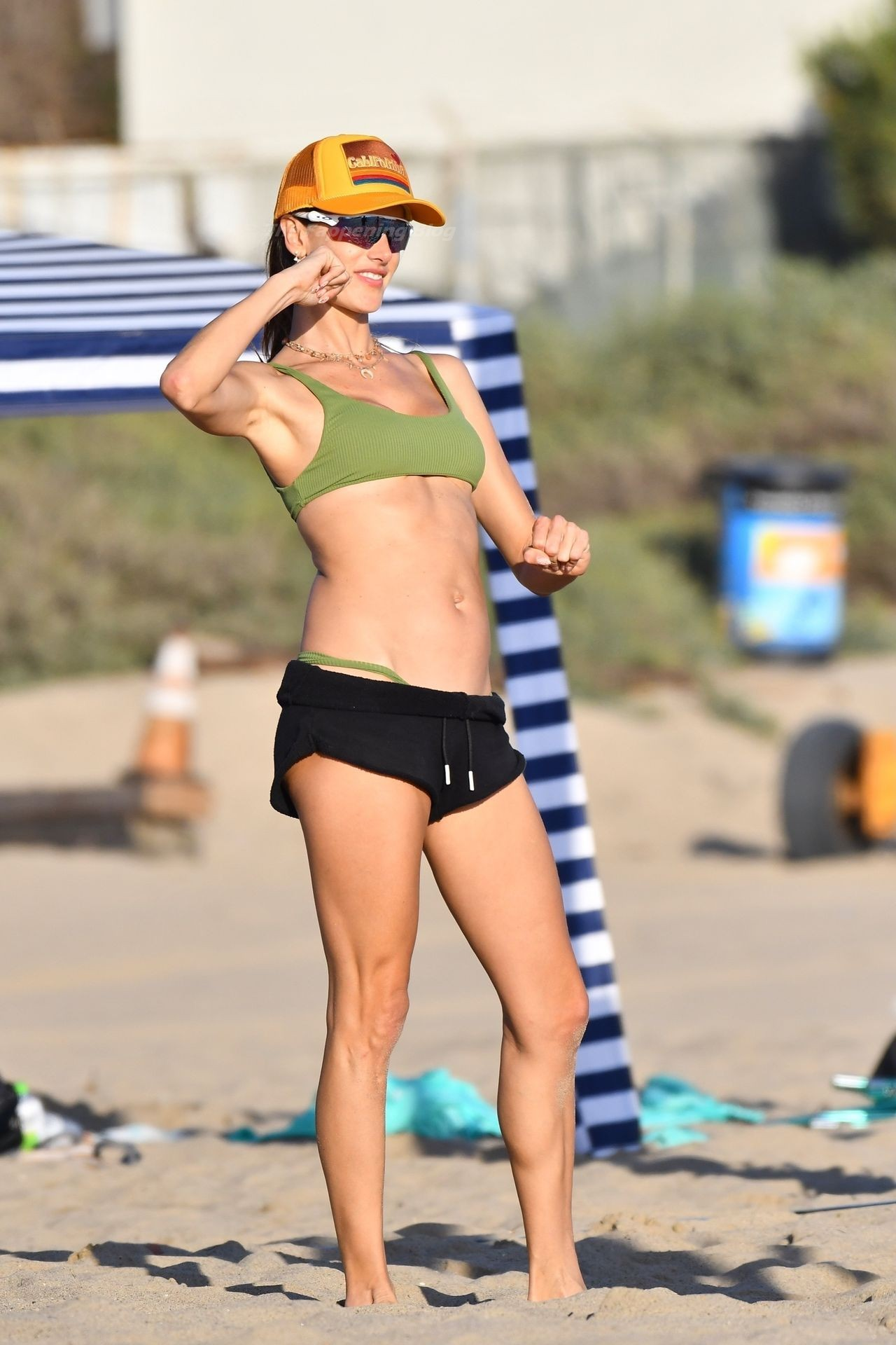 Alessandra Ambrosio Sexy on Beach 10