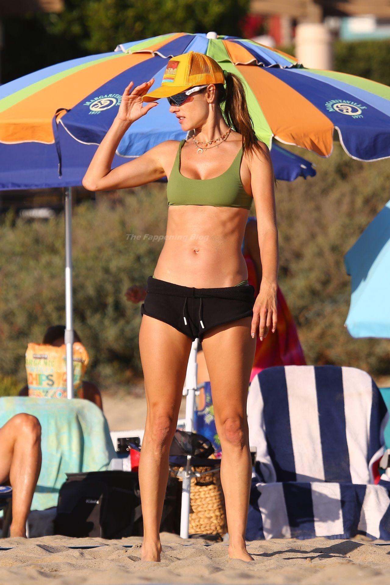 Alessandra Ambrosio Sexy on Beach 93