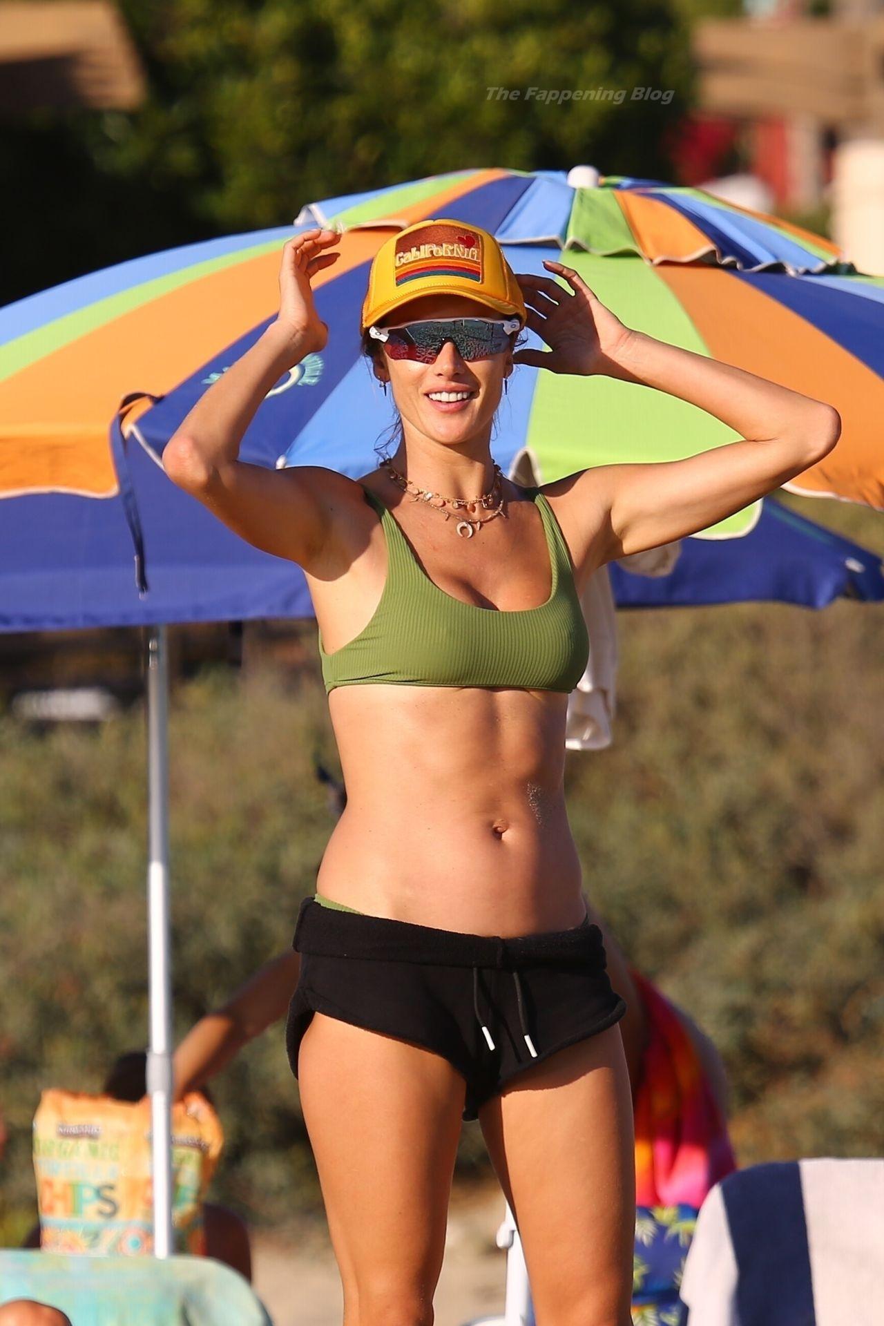 Alessandra Ambrosio Sexy on Beach 95