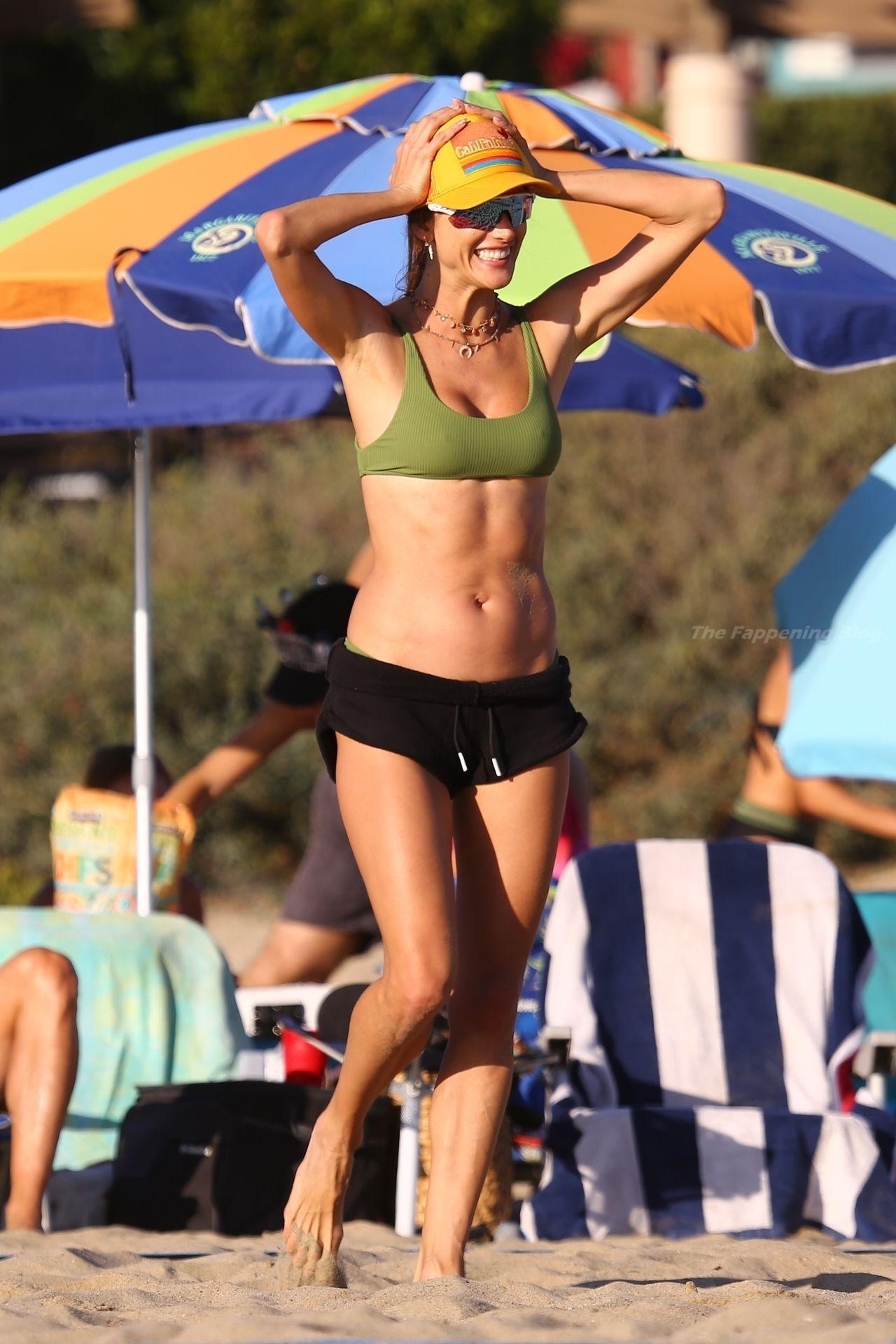 Alessandra Ambrosio Sexy on Beach 97