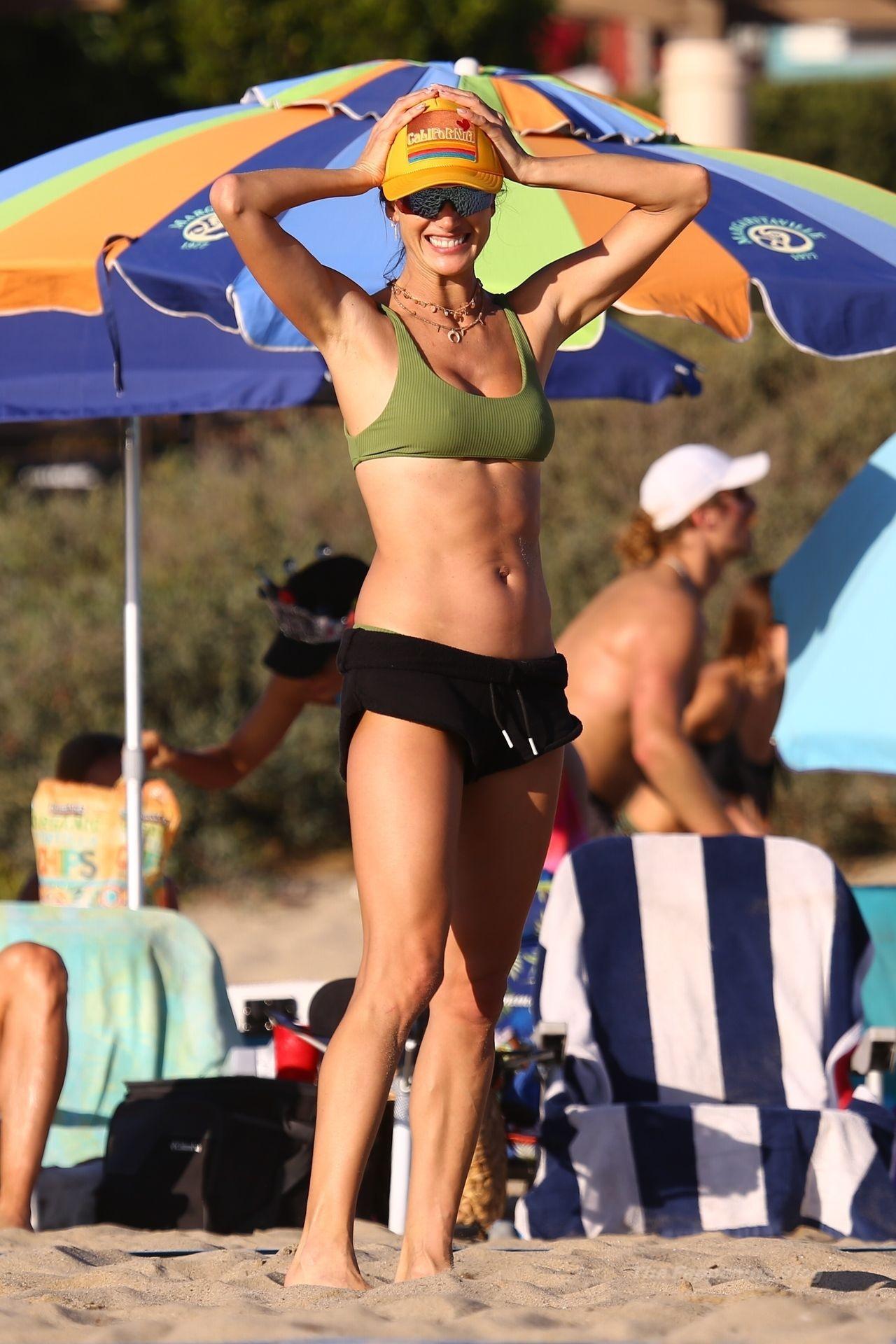 Alessandra Ambrosio Sexy on Beach 98