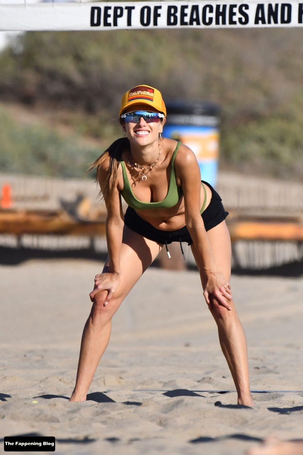 Leggy Alessandra Ambrosio Plays Beach Volleyball With Friends (150 Photos)