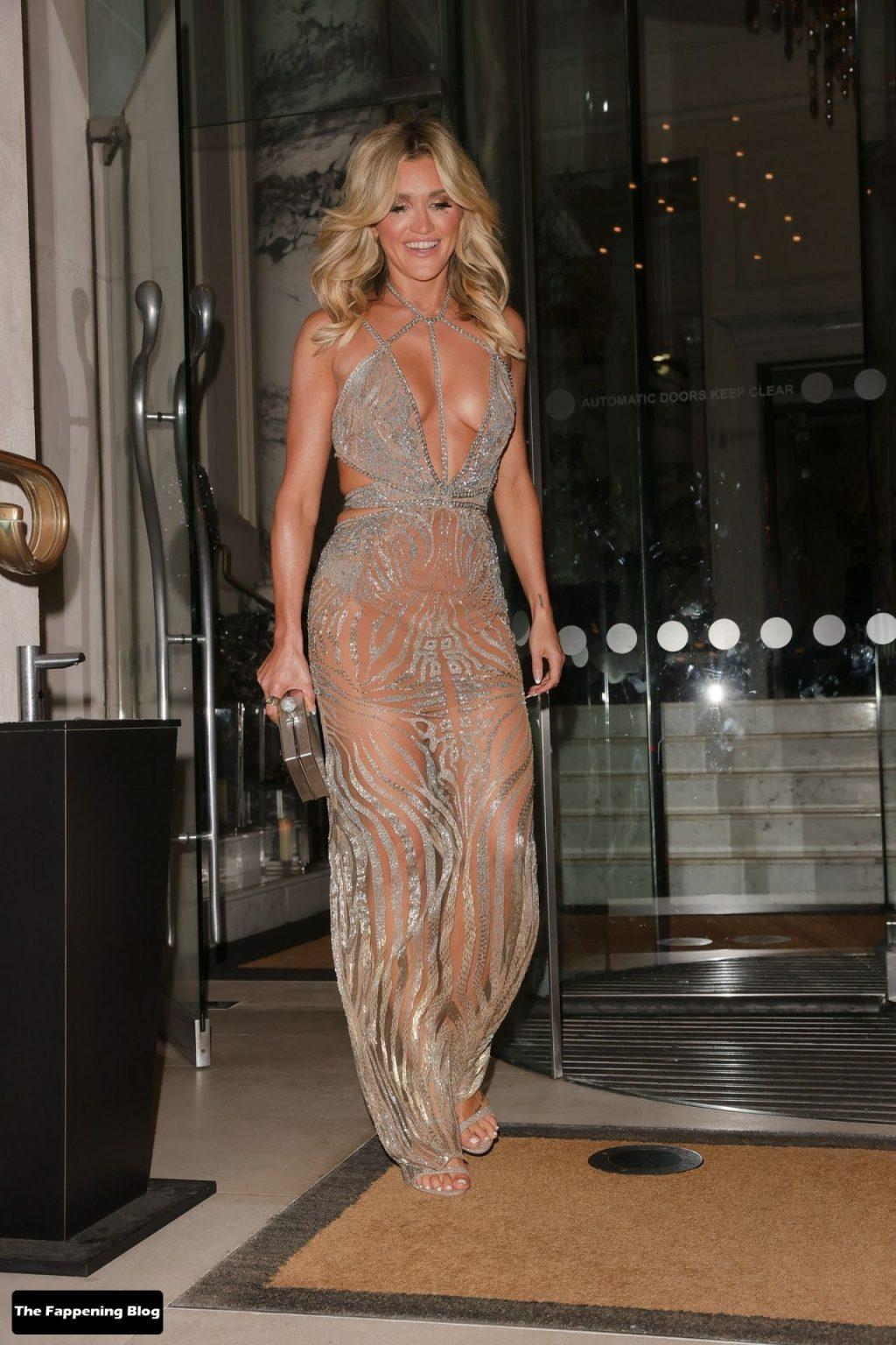 Ashley Roberts Looks Sensational Wearing a Beautiful Julien Macdonald Dress (53 Photos + Video)