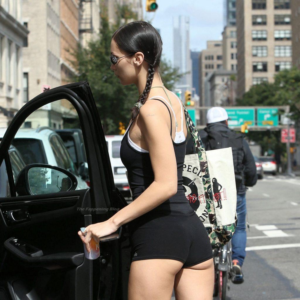 Bella Hadid Gets Cheeky in a Skimpy Pair of Alo Yoga Shorts (58 Photos)