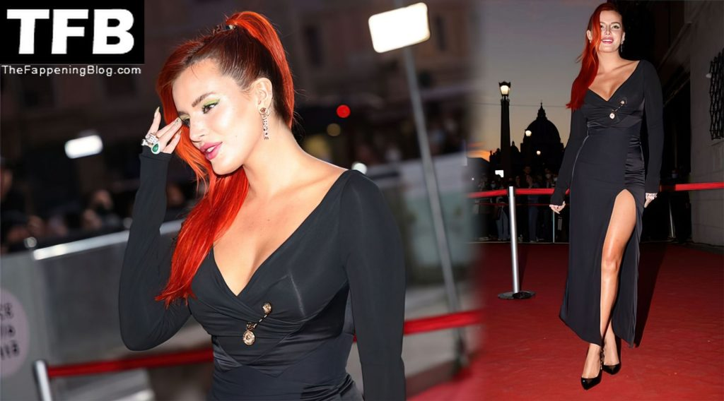 """Bella Thorne Shows Her Sexy Tits & Legs on the """"Time Is Up"""" Red Carpet at the Rome Film Fest (150 Photos)"""