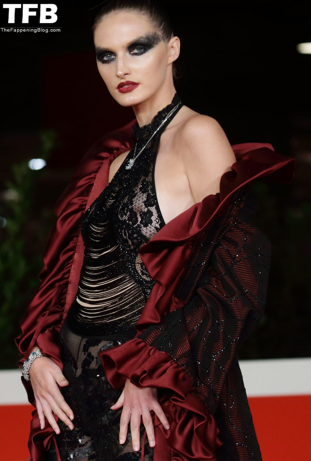 Denisa Kucik Flashes Her Nude Tits at the Rome Film Festival (7 Photos)