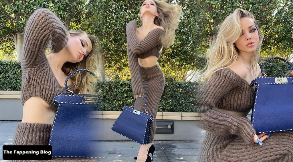 Dove Cameron Looks Beautiful as She Poses Braless for Fendi (8 Photos)