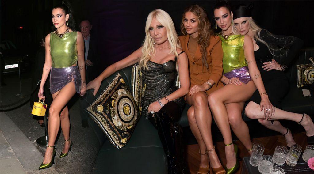 Dua Lipa Flaunts Her Sexy Legs at the Versace x Frieze Event (43 Photos)