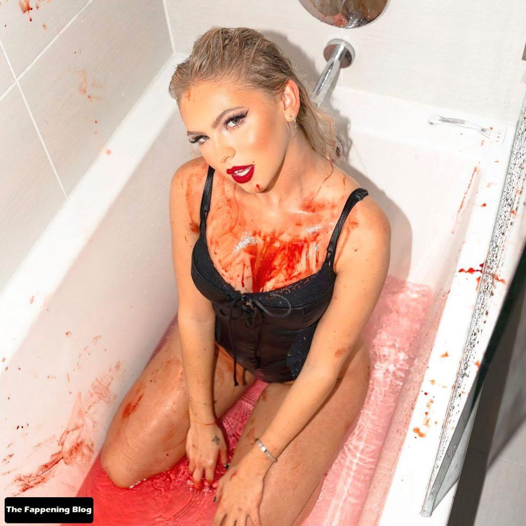Jordyn Jones Displays Her Beautiful Body in a New Halloween Shoot (6 Photos)