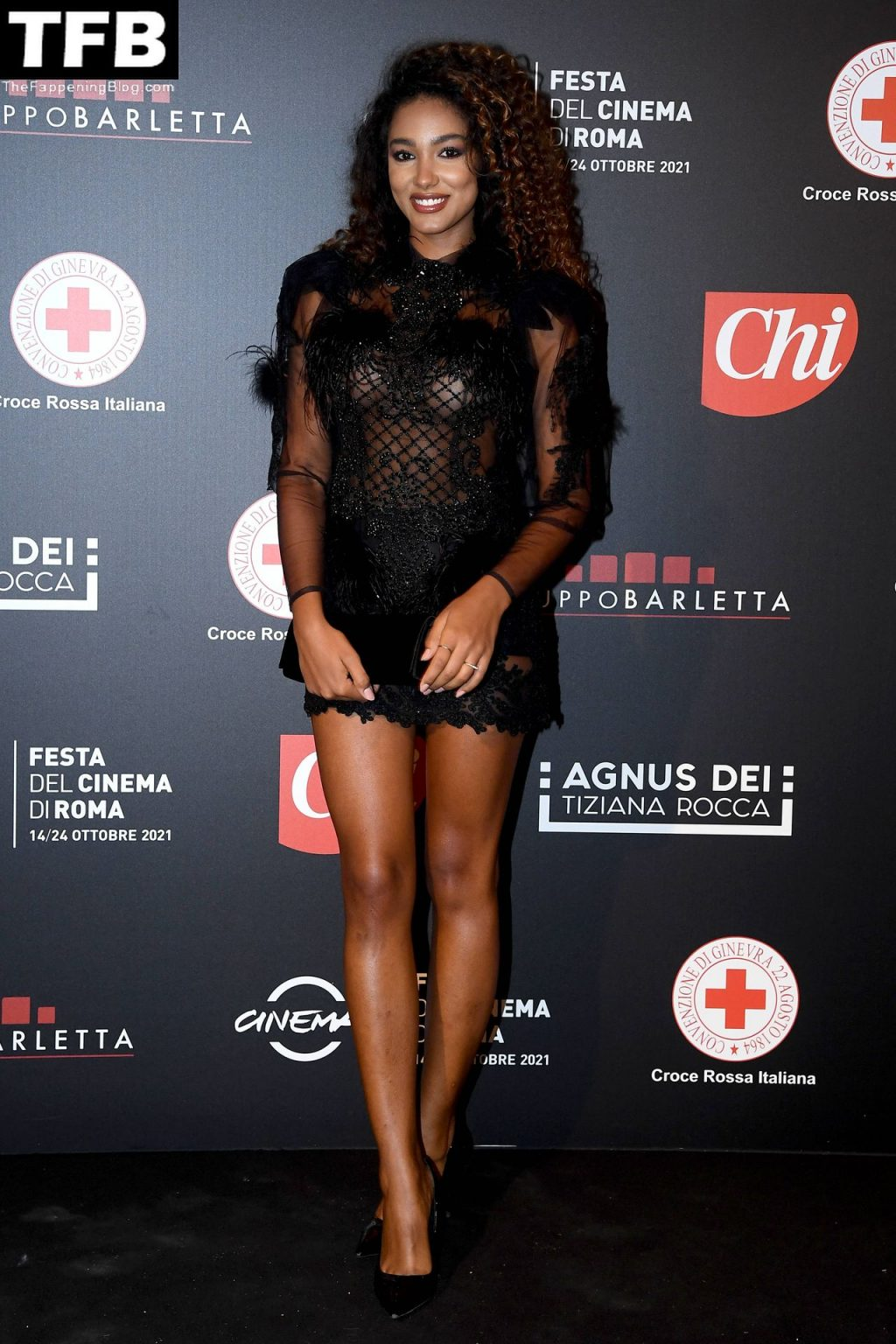 Samira Lui Flaunts Her Sexy Body in a See-Through Dress at the Rome Cinema Fest (10 Photos)